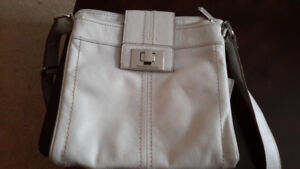 Tignanello Messenger Handbag Ice Color Leather