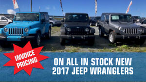 Jeep Wrangler SOLD AT INVOICE!