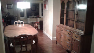 Knechtel Dining table and hutch buffet