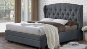 Harper Classic upholstered beds with drawer