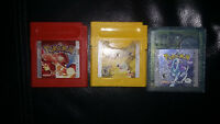 Jeux de Gameboy a vendre !!! Pokemon yellow, crystal, red