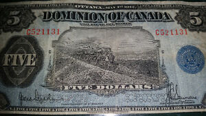 1912 train note very very RARE!! in great condition for its year London Ontario image 5