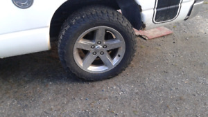 "20"" DODGE RAM RIMS AND 305/55/20 BF KO2"