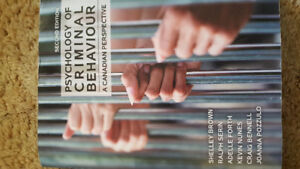 *Brand New* Psychology of criminal behaviour 2nd edition