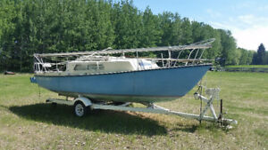 23ft Southcoast Sailboat with trailer and outboard