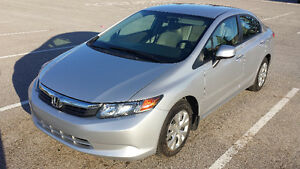 2012 HONDA CIVIC LX - LOW KMS ONLY 84K - SILVER - FULLY LOADED