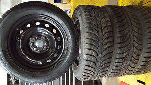195 60 15 winter tires with 4x110mm rims London Ontario image 3