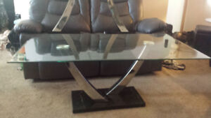 glass coffee end tables