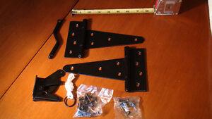 ONWARD lot de 5 kit pour cloture noir 9001FB-V Black gate kit