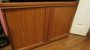 Small Wood Venier 2 Door Credenza ON HOLD