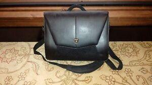 leather lamborghini laptop briefcase