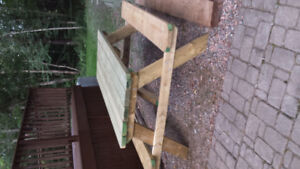 Pressure treated 3 × 6 picnic table