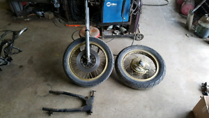 Yamaha XS650 suspension & parts