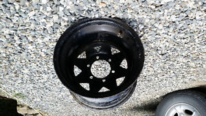 """TWO 15""""×10"""" wide Steel Chevy Rims"""