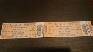 Guns and roses awesome seats $100 off face value