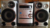 SONY Speaker Set and 5 Disc Player, cassette player