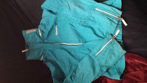 Turquoise bench coat