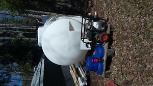 Water tank and pump