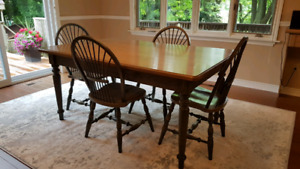 Harvest table and 4 chairs