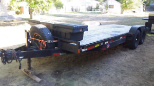 20ft heavy duty flat deck trailer with new winch
