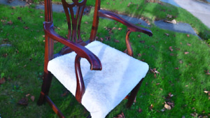 5 solid wood dining room chairs-NEW PRICE!