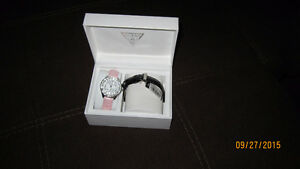 GUESS WATCH WITH TWO CHANGE BRACELETS London Ontario image 1