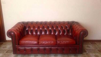 2 x MORAN Sofa - Burgundy Leather