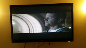 52 inch LG smart TV with wall mount included