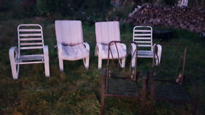 12 Lawn Chairs!  Free for a Case of Beer!