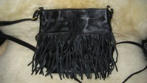 Fossil Fringe Black Crossbody Bag New Without Tags