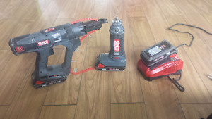 Senco Cordless Screwgun, Cut Out Saw Set