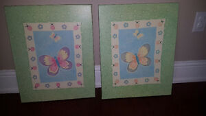 2 Butterfly canvas prints