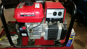 Ez 2500 Honda generator 750 obo or trade for??