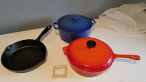 Enameled cast iron Cuisinart cookware