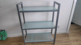 Glass shelving unit (John Lewis)