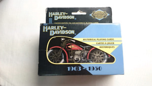 HARLEY DAVIDSON HISTORICAL PLAYING CARDS LIMITED EDITION TIN BOX