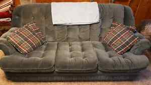 Slate blue couch and chair set