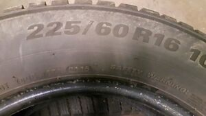 Set of 4 Kumho Winter Tires - 225 60R 16