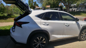 Lexus NX  200T F Sport 3, white with red seats