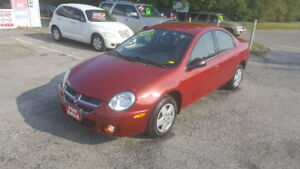 2005 Dodge SX 2.0  SEDAN *** LOW KM *** CERTIFIED $4995