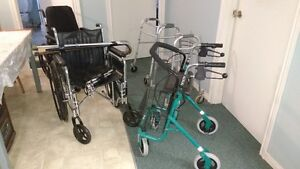 Wheelchairs, Walkers and Canes - All in Excellent Condition
