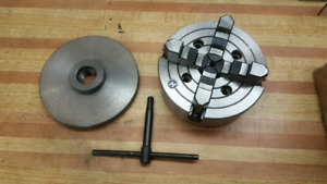 """8"""" 4 Jaw Independent  chuck and adapter plate - New never used"""