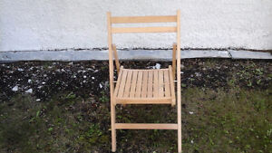 Folding wooden deck chairs 1 for $10 or 6 for $50