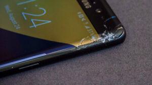 Samsung S5, S6, S7, S7 Edge, S8 &S8 Plus Cracked Screen Repair