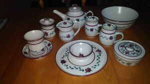 N.S. Pottery Cranberry pattern