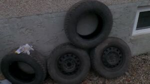 Four 215/70/R15 Winter Tires Edmonton Edmonton Area image 1