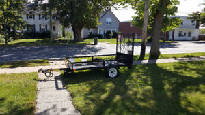 """Utility Or ATV Trailer 54"""" wide x 8'Long  In Mint condition"""