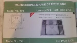 "DEEP STAINLESS STEEL UNDER MOUNT LAUNDRY SINK 35% SALE12"" Deep"