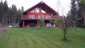 Log home with 5 acres & shop