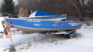 14 foot aluminum boat with 15hp evinrude
